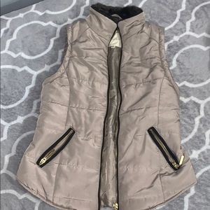 Girls brown vest